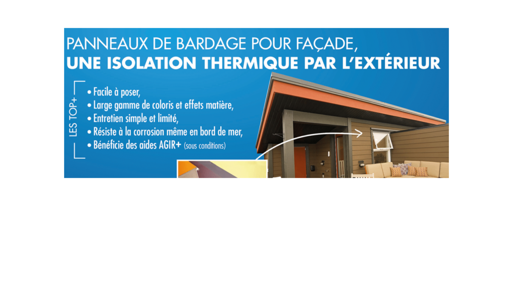 Panneaux de bardage : Isolation thermique par l'extérieur